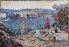 Vallée de la Sédelle au pont Charraud; gelée blanche