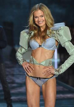 Model Vita Sidorkina from Russia walks the runway during the 2015 Victoria's Secret Fashion Show at Lexington Avenue Armory on November 10, 2015 in New York City.