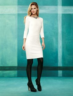 Wear white.  #wearwhatworks #whbm #fall Just bought this dress!!!!