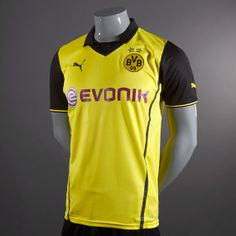 a56c8c550 Football Shirts - Puma Borussia Dortmund European Home 13 14 Replica Short  Sleeve Jersey -