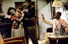 "Lida Baarova, Tino Buazzelli and Franco Coop in Giorgio Simonelli's fantasy comedy ""La bisarca"" (ironic for ""The Second Ark"", 1950), based upon the Pietro Garinei and Sandro Giovannini's hugely successful radio revue show with the same title (1948-50)."