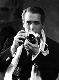 Pentax  Paul Newman #selfportrait [Not sure this is a Pentax. Looks like a spotmatic, but isn't marked as one.]