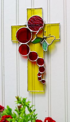 Handmade Stained Glass Sun Catcher 3D Butterfly by JBsGlassHouse