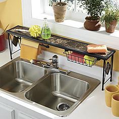 Kitchen Decor Themes Coffee over the sink rack coffee kitchen decor shelf space saver fit tall