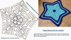Crochet ripple blanket or can make a bigger rug chart pattern Crochet Star Blanket, Crochet Lovey, Crochet Stars, Crochet Round, Crochet Rug Patterns, Crochet Motifs, Crochet Diagram, Crochet Stitches, Diy Crafts Knitting