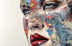 Based in Montréal, Sandra Chevrier creates mixed media works that combine sensuously rendered portraits of women with painted and collaged comic book...