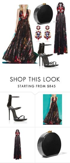 """#186 ☆☆GOWN ☆☆"" by ysmnfashion ❤ liked on Polyvore featuring Giuseppe Zanotti, Zuhair Murad, Edie Parker and Dolce&Gabbana"