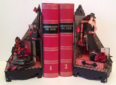 annes papercreations: G45 Couture bookends with mini albums and bookmarks - WOC DT project