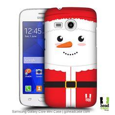 Head Case Designs Santa Mr. Snowman Back Case for Samsung Galaxy Core Mini G3568