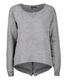 Another great find on #zulily! Dex Gray Heather Fleece Zip Sweatshirt - Women by Dex #zulilyfinds
