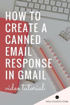 how to create a canned email response (template) in gmail - video tutorial…