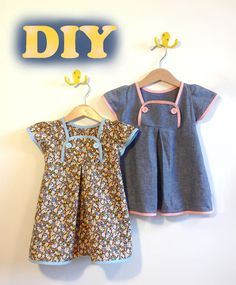 Schnittmuster / Anleitung / Freebie / Tutorial / Nähanleitung kostenlos / nähen / Kleid für Mädchen / Kleidchen / DIY / sewing / dress / girls / free pattern / instructions