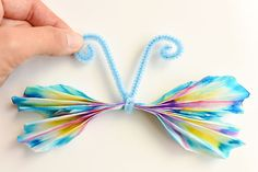 Finally, pull apart the folds in the coffee filter to open them up and shape your butterfly. Daycare Crafts, Preschool Crafts, Easter Crafts, Craft Activities, Diy Crafts For Girls, Toddler Crafts, Kids Crafts, Butterfly Crafts, Flower Crafts