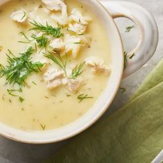 Greek Lemon Chicken Soup, Diced Chicken, Avgolemono Soup, Greek Dishes, Cheeseburger Chowder, Cooking Tips, Soup Recipes, Dinner, Ethnic Recipes
