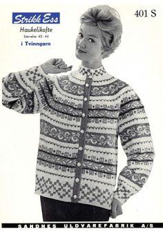 Ravelry: Retro Free Cardigan Haukelikofte pattern by Liv Tovsland Fair Isle Knitting, Knitting Yarn, Nordic Sweater, Men Sweater, Knitting Patterns Free, Free Knitting, Knitting Machine, Knit Stranded, Norwegian Knitting
