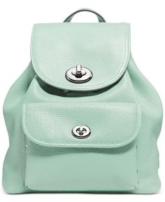 1d54a940e88 COACH Mini Turnlock Rucksack in Pebble Leather   Reviews - Handbags    Accessories - Macy s