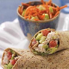 Wrap με γαλοπούλα, λαχανικά και γιαούρτι