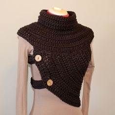 VEST, Female neo-warrior, or Male, ladies vest, chunky crochet, knitted top, festival, huntress cross-body, Katniss cowl, tribal vest by GnarlyKnitsGroup on Etsy https://www.etsy.com/listing/277742038/vest-female-neo-warrior-or-male-ladies