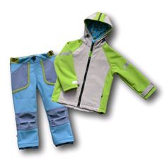 Podrobný fotonávod a střih na ušití dětské Softshellové bundy a kalhoty. Střih v 11 velikostech: 80 a 140.