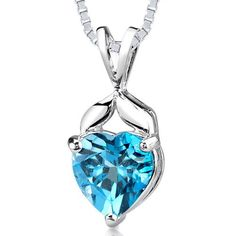Peora.com - 3 cts Heart Cut Swiss Blue Topaz Sterling Silver Pendant SP1954, $39.99 (http://www.peora.com/3-00-cts-heart-shape-swiss-blue-topaz-pendant-style-sp1954/)