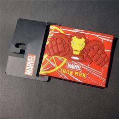 Comics Dc Marvel the Avengers Iron Man Thor/Captain/Superman 3D Purse Logo Credit Card Holder Cartoon Wallet