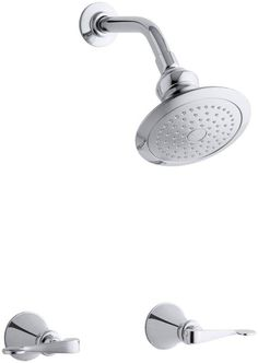 Revival Shower Faucet Set with Traditional Lever Handles and ...