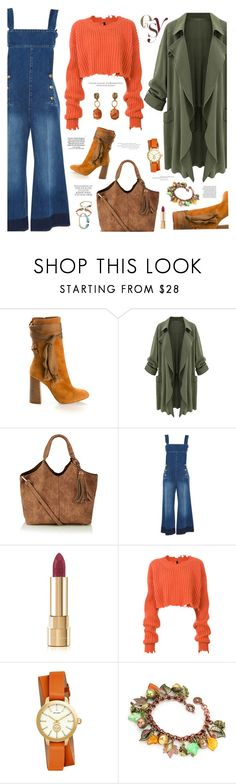 """""""Overalls & Duster Coat"""" by majezy ❤ liked on Polyvore featuring Chloé, Sonia Rykiel, Dolce&Gabbana, Unravel, Tory Burch and Loewe"""