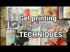 Gel printing ideas | 10 techniques to monoprint photos - YouTube Mixed Media Techniques, Art Techniques, Gel Press, Gelli Plate Printing, Plate Art, Art Tutorials, Art Lessons, Lettering, Youtube
