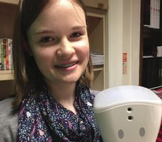 """Zoe (16) is currently studying towards her GCSE exams. Due to her ME she's missed a lot of school time. We spoke with Zoe and her family about how telepresence robot, AV1, developed specifically to enable pupils to participate in class lessons remotely, has helped her. --- """"Without AV1 she would probably have had to defer or drop history, which is her favourite subject and the one she wants to continue to A-level"""" -I think this is because only certain subjects tend to be offered for home…"""
