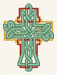 Celtic Knot Cross cross stitch pattern.