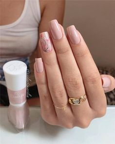Easy Spring Nail Designs Ideas You Are Loving 2019 Every girl loves beautiful nails, and nails are the first thing we notice each other. Therefore, we need to take good care of them. we collected beautiful spring nail designs for girls who love be. Nail Art Designs, Nail Designs Spring, Trendy Nails, Cute Nails, My Nails, Spring Nail Art, Spring Nails, Summer Nails, Manicure Colors