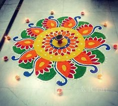 Beautiful Rangoli Designs And Patterns For 2018 - Craft Source by Easy Rangoli Designs Diwali, Indian Rangoli Designs, Simple Rangoli Designs Images, Rangoli Designs Latest, Rangoli Designs Flower, Free Hand Rangoli Design, Rangoli Border Designs, Small Rangoli Design, Rangoli Patterns
