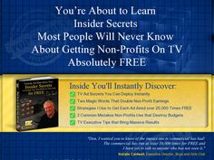 Non Profit On Tv For Free Review  Get Full Review : http://scamereviews.typepad.com/blog/2013/06/non-profit-on-tv-for-free-1.html