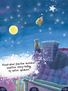 """ON SALE: """"Laura's Journey to the Stars"""" ($2.99-->$0.99) - interactive picture book for kids Children's Picture Books, Games For Kids, Journey, App, Stars, Reading, Movie Posters, Pictures, Games For Children"""