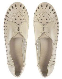 Agrandir ASOS - MILAN - Chaussures en cuir à découpes laser et lacets