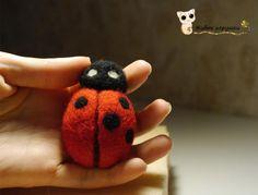 Needle Felting Tutorial Ladybug