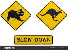 "Résultat de recherche d'images pour ""panneau kangourou"" Kangaroo Island, Slow Down, Images, Signs, Decor, Kangaroo, Sign, Searching, Novelty Signs"