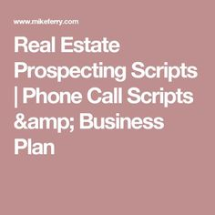 mike ferry business plan
