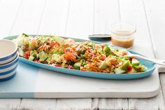 Curry Rice Salad - Sub low pro rice and (for me) omit peanuts. I might add some dry noodles to replace the crunch - or toast some julliened carrots Curry 3, Curry Rice, Make Ahead Salads, Easy Salads, Arroz Al Curry, French Salad Dressings, Vegetarian Recipes, Cooking Recipes, Paleo Food