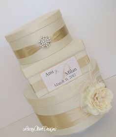 Couture Wedding Card Box Dupioni Silk Card by LaceyClaireDesigns, $119.00