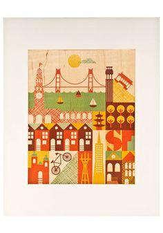 It Takes a Village Print in SF, #ModCloth