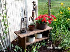 Rusty Vintage Garden Art Garden Love Garden Art