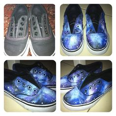 Diy galaxy shoes..again using acrylic paint