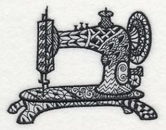 Vintage Sewing Machine 2 (Blackwork)