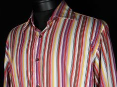 Etro Button Down Shirt Mens Sz 42 Striped Made in Italy Multicolored Stripes  #Clothing #Shopping #eBay http://r.ebay.com/8KO5gu via @eBay