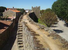 TRANCOSO Aragon, Monuments, Chateau Medieval, Sainte Marie, Railroad Tracks, Sidewalk, Country Roads, 16th Century, Walkways