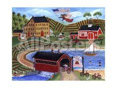 Strawberry Market Antiques Cheryl Bartley by Cheryl Bartley Landscapes Giclee Print - 61 x 46 cm
