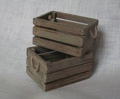 Crates (1 inch scale) by Marquis Miniatures, via Flickr