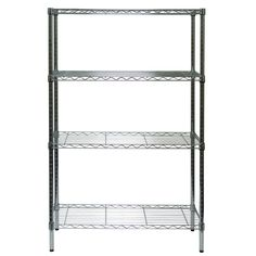 Shop Style Selections 54-in H x 36-in W x 14-in D 4-Tier Steel Freestanding Shelving Unit at Lowes.com