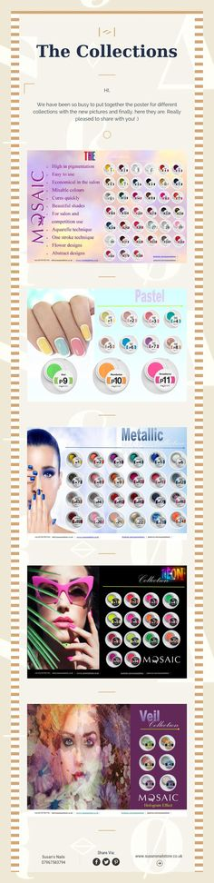 The Collections Nail Artist, Art Tutorials, Mosaic, Collections, Nails, Finger Nails, Ongles, Mosaics, Nail